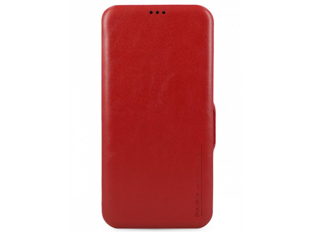 Чехол-книжка Puloka для iPhone 12/12 Pro на магните красная в Тюмени
