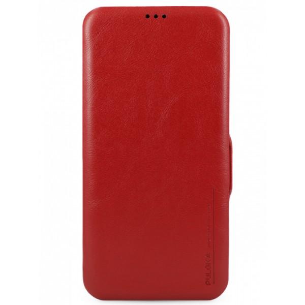 Чехол-книжка Puloka для iPhone 12/12 Pro на магните красная