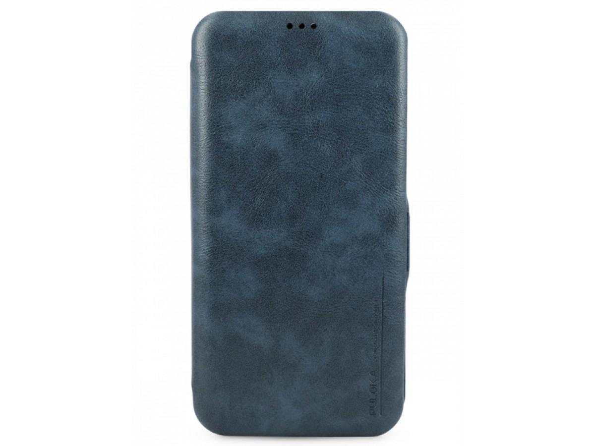 Чехол-книжка Puloka для iPhone 12/12 Pro на магните темно-синяя в Тюмени