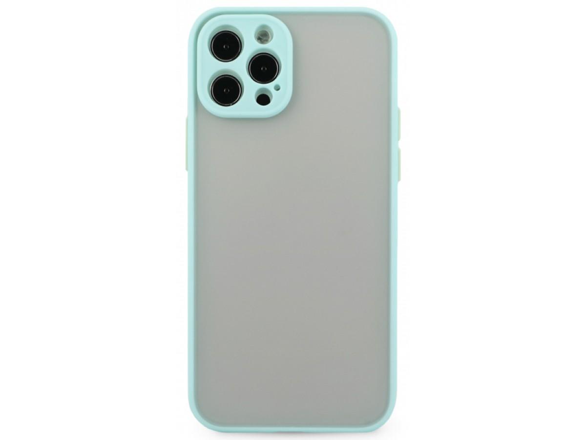 Чехол матовый с бампером Safe Camera для iPhone 12 Pro бирюзовый в Тюмени