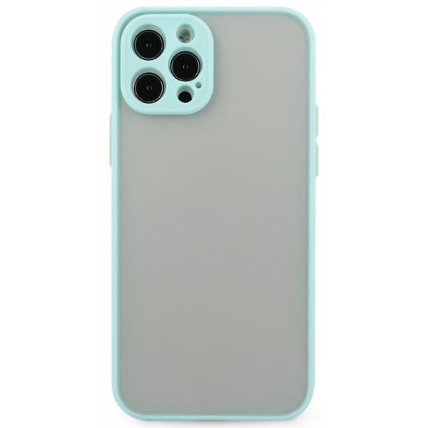 Чехол матовый с бампером Safe Camera для iPhone 12 Pro бирюзовый