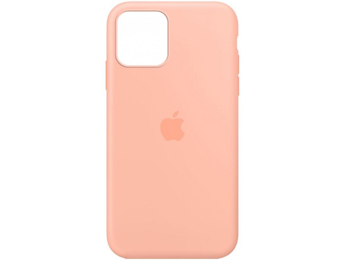 Чехол Silicone Case для iPhone 12/12 Pro персиковый в Тюмени