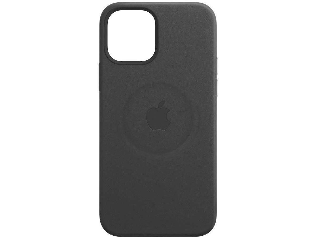 Чехол Leather Case magsafe для iPhone 12 Mini черный в Тюмени