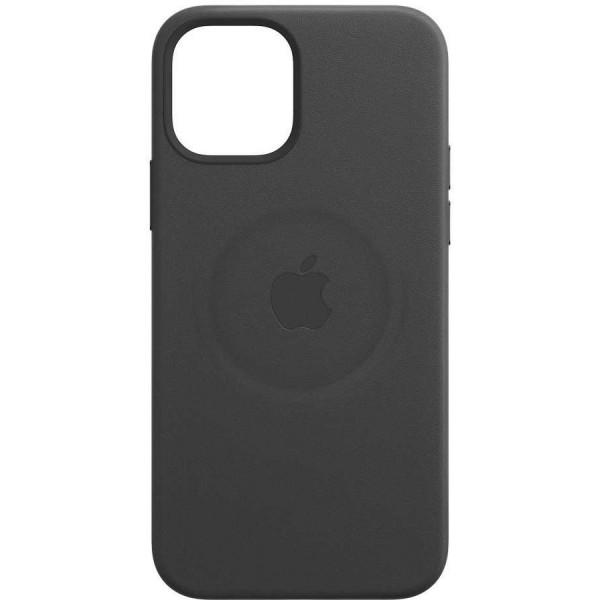 Чехол Leather Case magsafe для iPhone 12 Mini черный