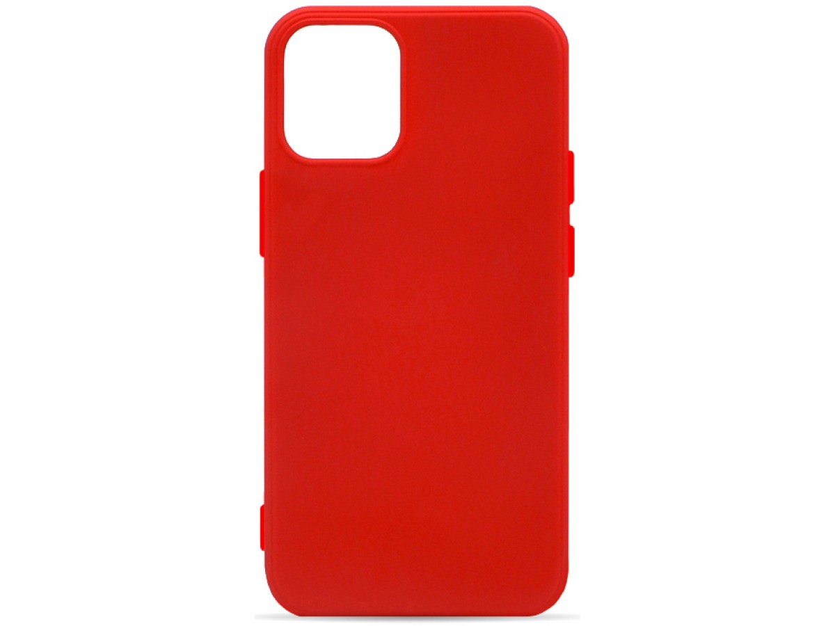 Чехол Soft-Touch для iPhone 12 Mini красный в Тюмени