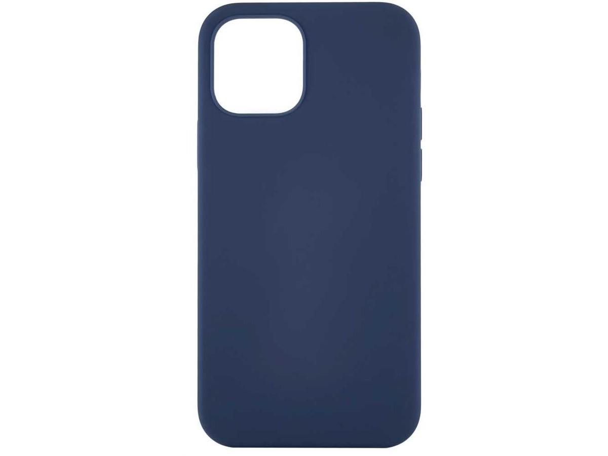 Чехол Soft-Touch для iPhone 12 Mini темно-синий в Тюмени