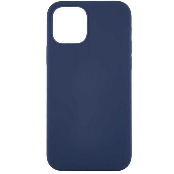 Чехол Soft-Touch для iPhone 12 Mini темно-синий