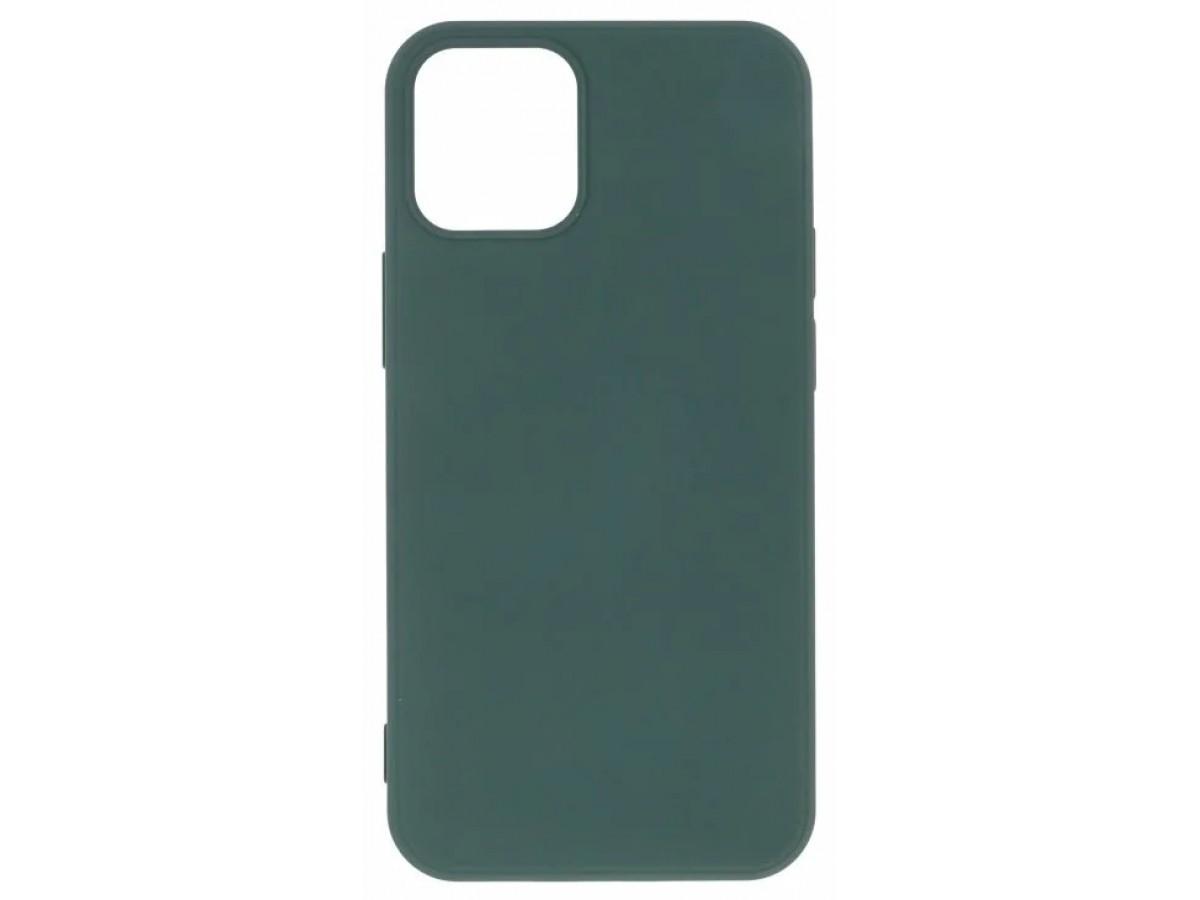 Чехол Soft-Touch для iPhone 12 Mini темно-зеленый в Тюмени