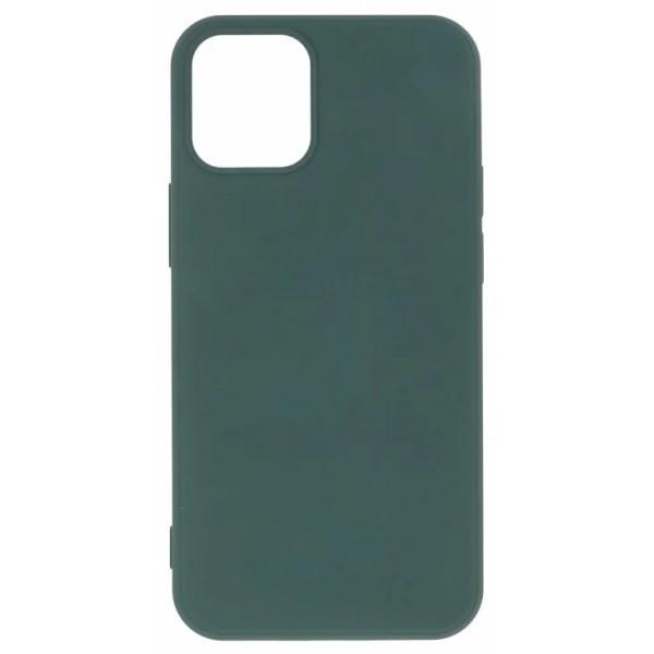 Чехол Soft-Touch для iPhone 12 Mini темно-зеленый