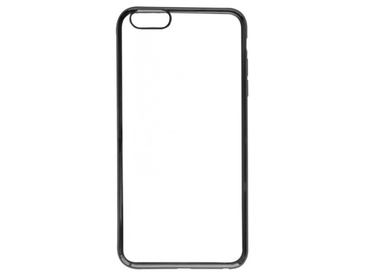 Чехол хром для iPhone 6 Plus/6S Plus силиконовый черный в Тюмени