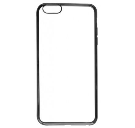 Чехол хром для iPhone 6 Plus/6S Plus силиконовый черный