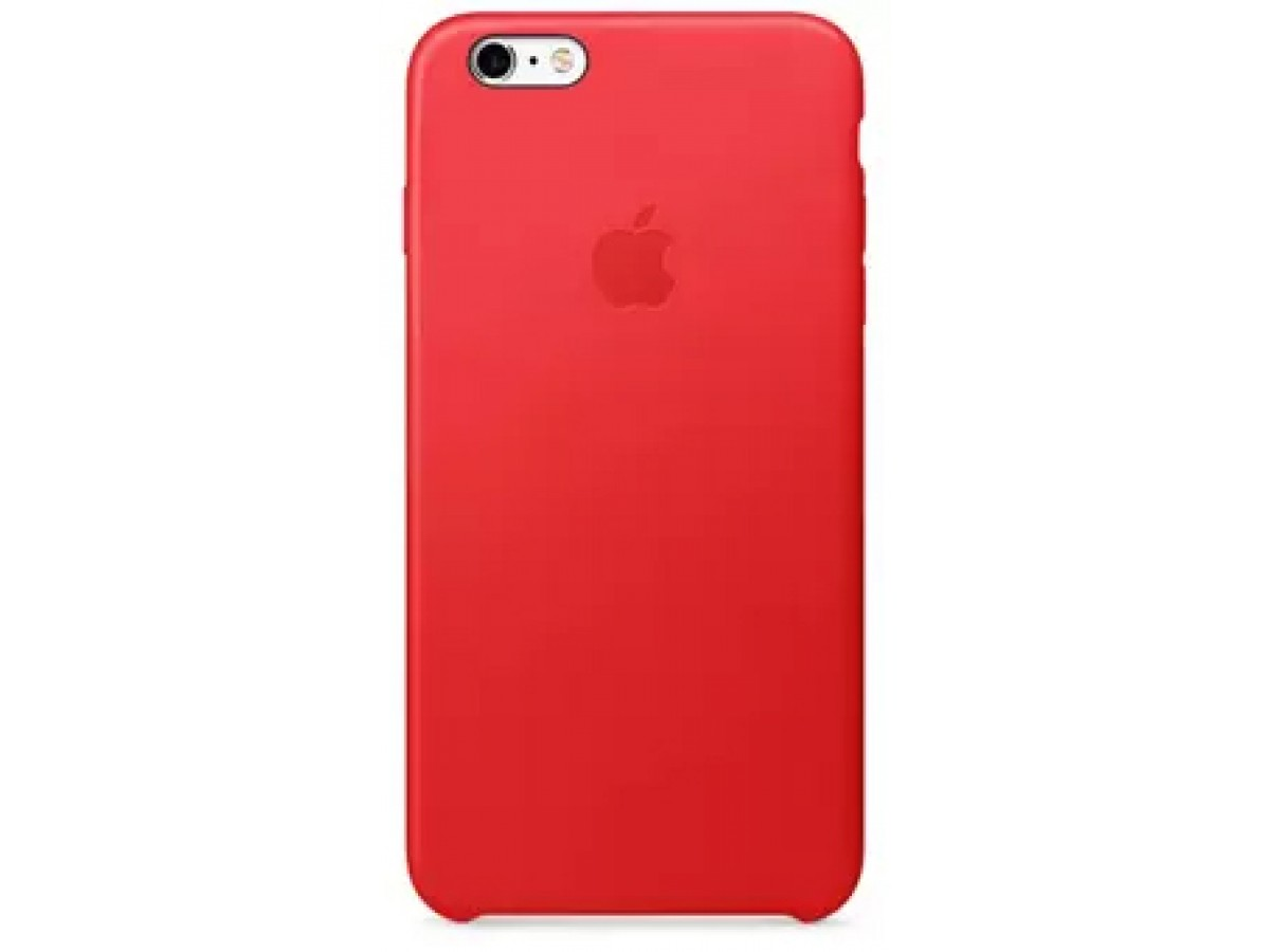 Чехол Leather Case для iPhone 6 Plus/6S Plus красный в Тюмени