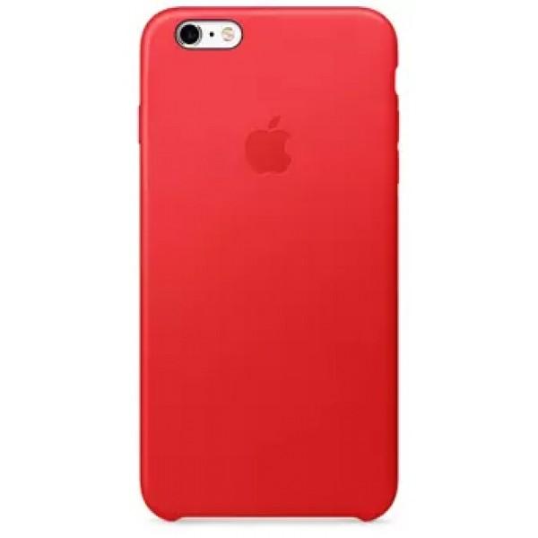 Чехол Leather Case для iPhone 6 Plus/6S Plus красный