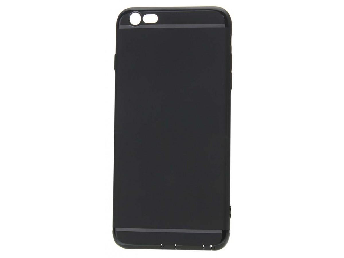 Чехол matt однотонный для iPhone 6 Plus/6S Plus силиконовый черный в Тюмени