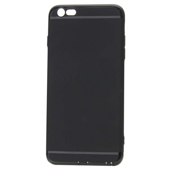Чехол matt однотонный для iPhone 6 Plus/6S Plus силиконовый черный