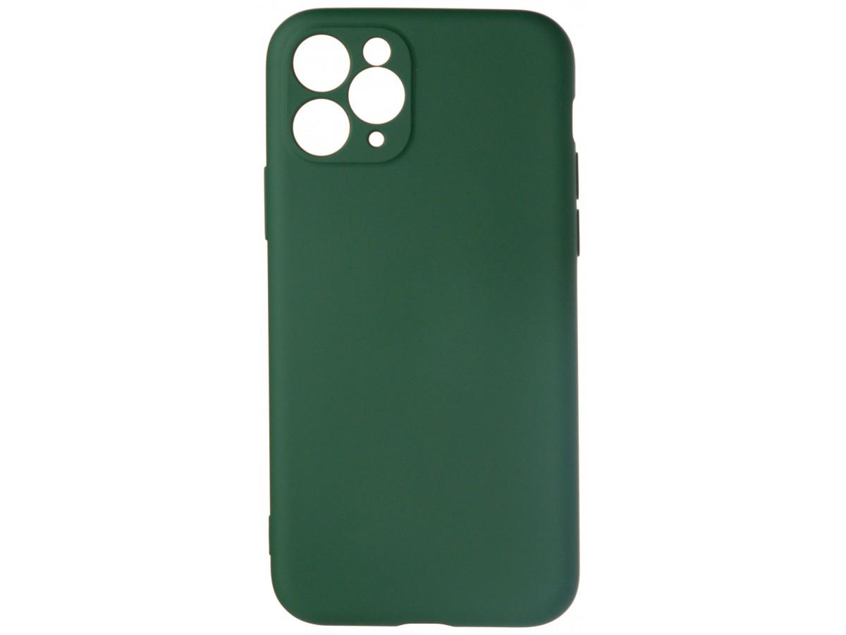 Чехол Soft-Touch для iPhone 11 Pro темно-зеленый в Тюмени