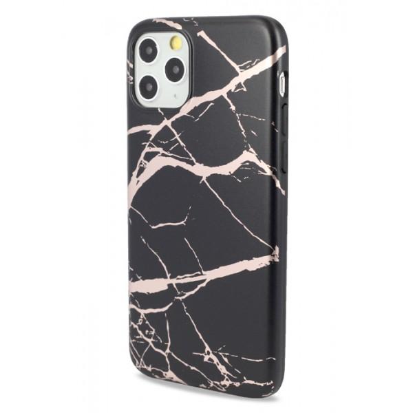 Чехол Golden мрамор для iPhone 11 Pro силиконовый черный