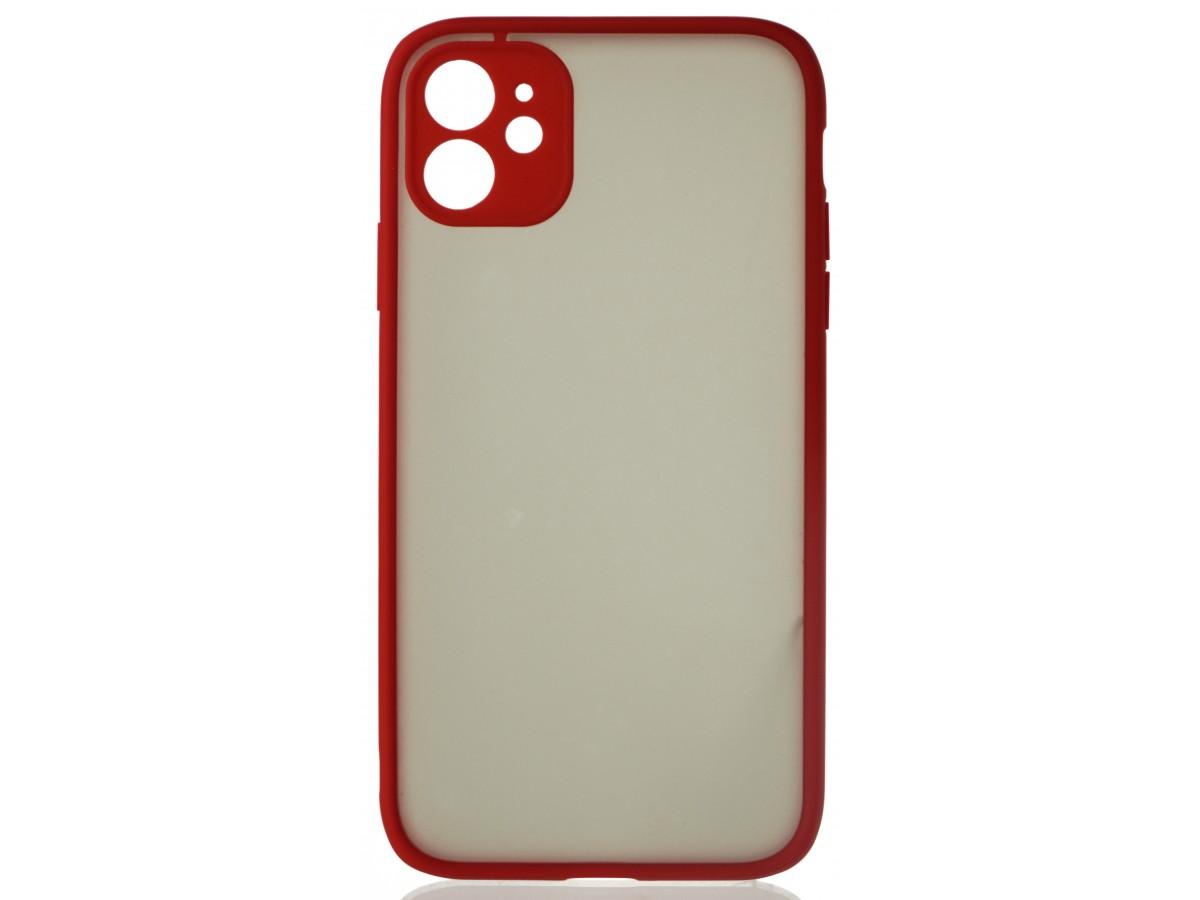 Чехол матовый с бампером Safe Camera для iPhone 11 красный в Тюмени
