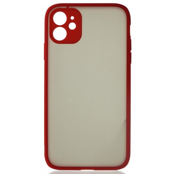 Чехол матовый с бампером Safe Camera для iPhone 11 красный