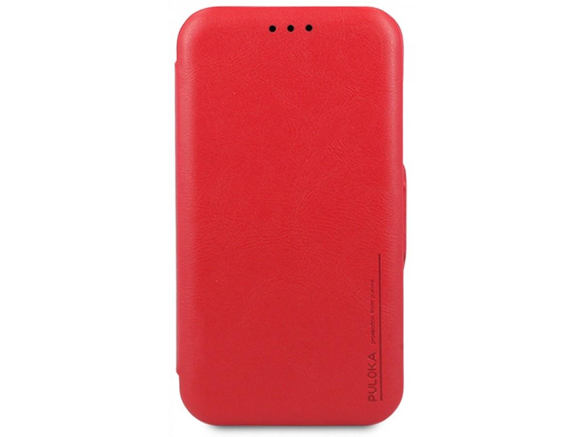 Чехол-книжка Puloka для iPhone 11 на магните красная в Тюмени