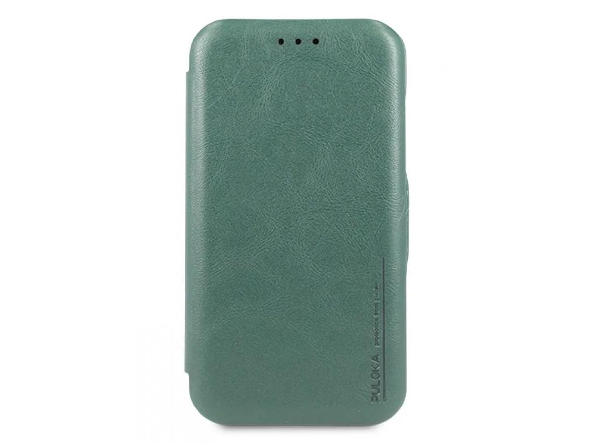 Чехол-книжка Puloka для iPhone 11 на магните зеленая в Тюмени