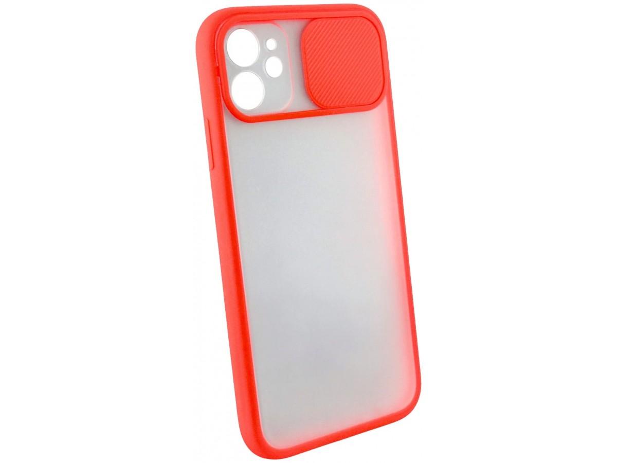 Чехол с защитой камеры для iPhone 11 с бампером красный в Тюмени