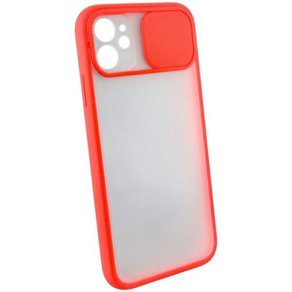 Чехол с защитой камеры для iPhone 11 с бампером красный
