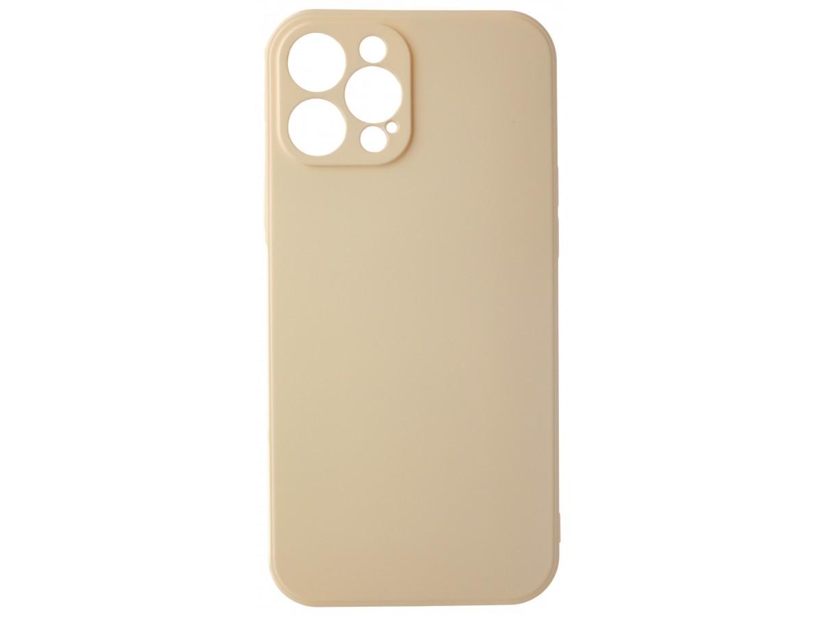 Чехол Soft-Touch для iPhone 12 Pro Max бежево-розовый в Тюмени