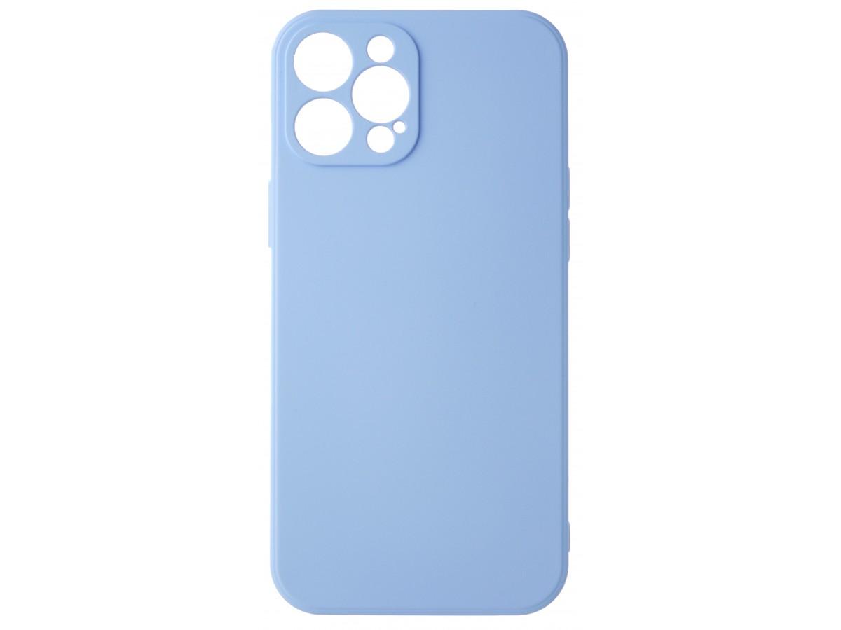 Чехол Soft-Touch для iPhone 12 Pro Max светло-голубой в Тюмени