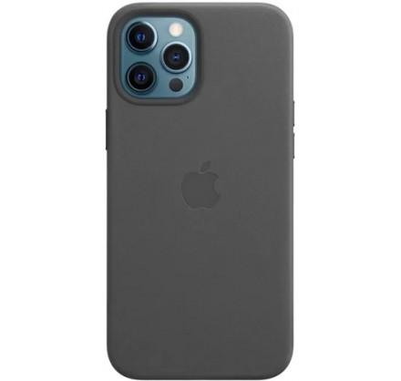 Чехол Leather Case magsafe для iPhone 12 Pro Max черный