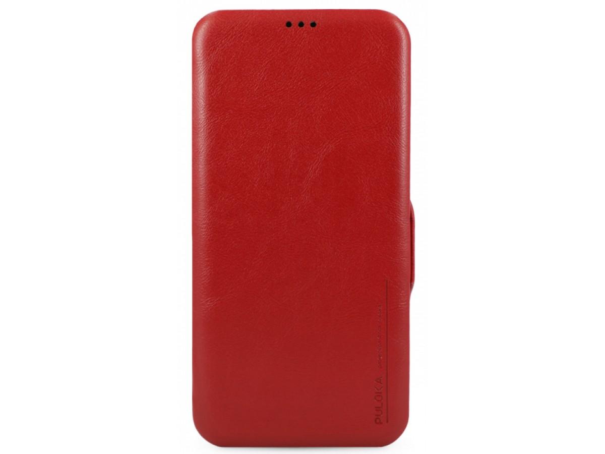 Чехол-книжка Puloka для iPhone 12 Pro Max на магните красная в Тюмени