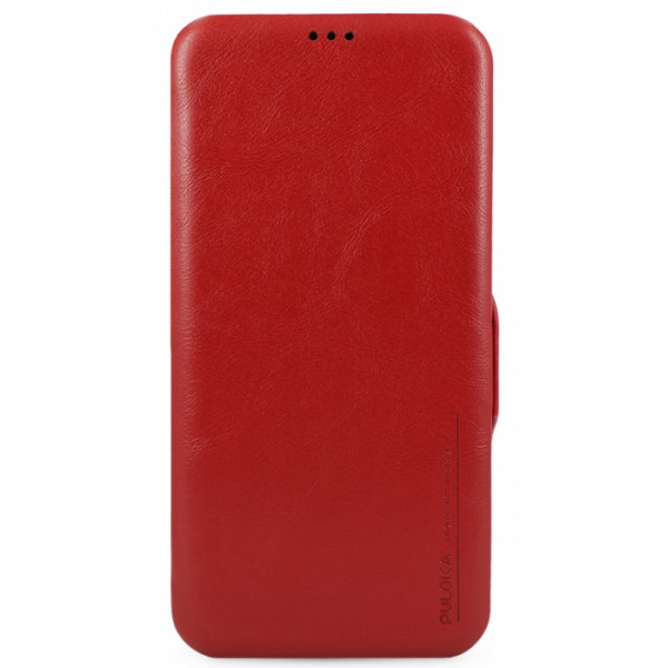 Чехол-книжка Puloka для iPhone 12 Pro Max на магните красная