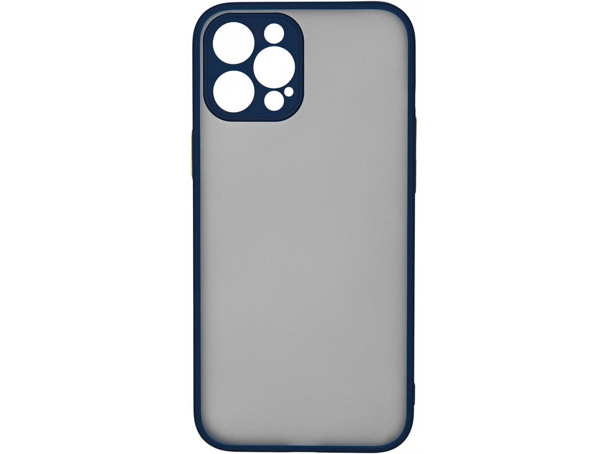 Чехол матовый с бампером Safe Camera для iPhone 12 Pro Max темно-синий в Тюмени