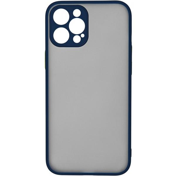 Чехол матовый с бампером Safe Camera для iPhone 12 Pro Max темно-синий