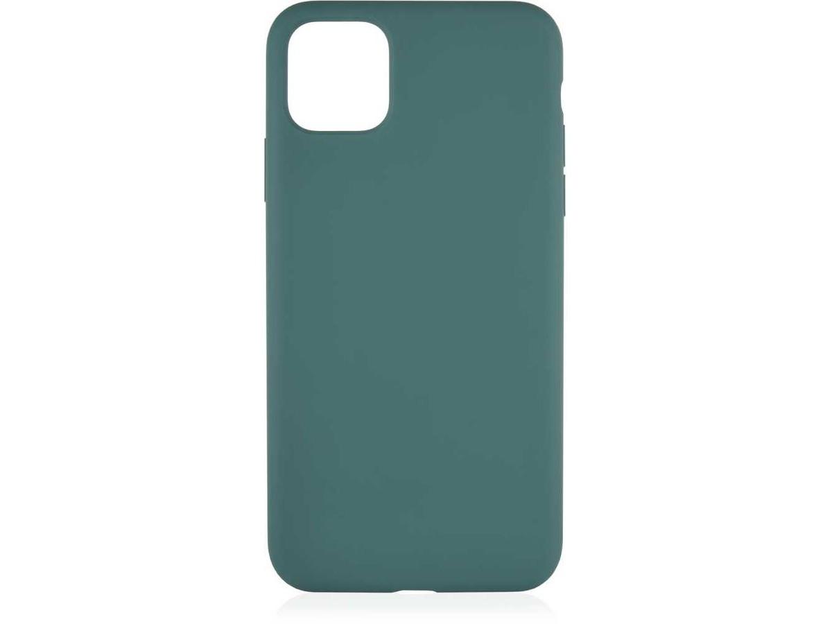 Чехол Soft-Touch для iPhone 12 Pro Max темно-зеленый в Тюмени