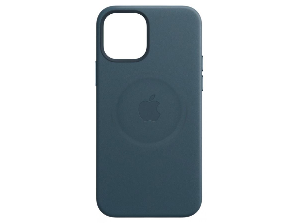 Чехол Leather Case magsafe для iPhone 12 Pro Max синий в Тюмени