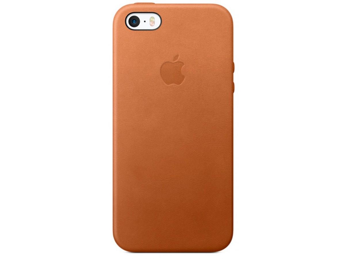 Чехол Leather Case для iPhone 5/5s/SE коричневый в Тюмени