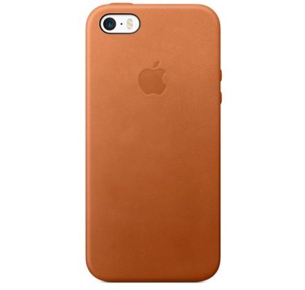 Чехол Leather Case для iPhone 5/5s/SE коричневый