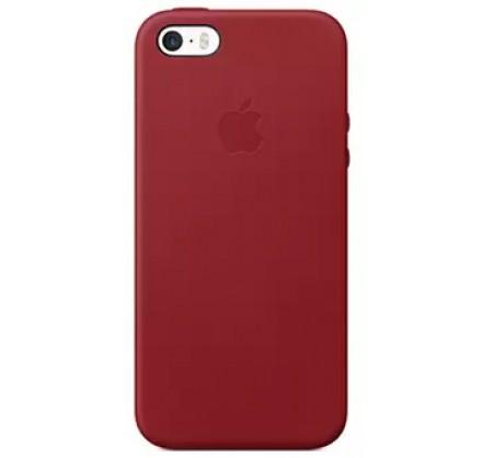Чехол Leather Case для iPhone 5/5s/SE красный