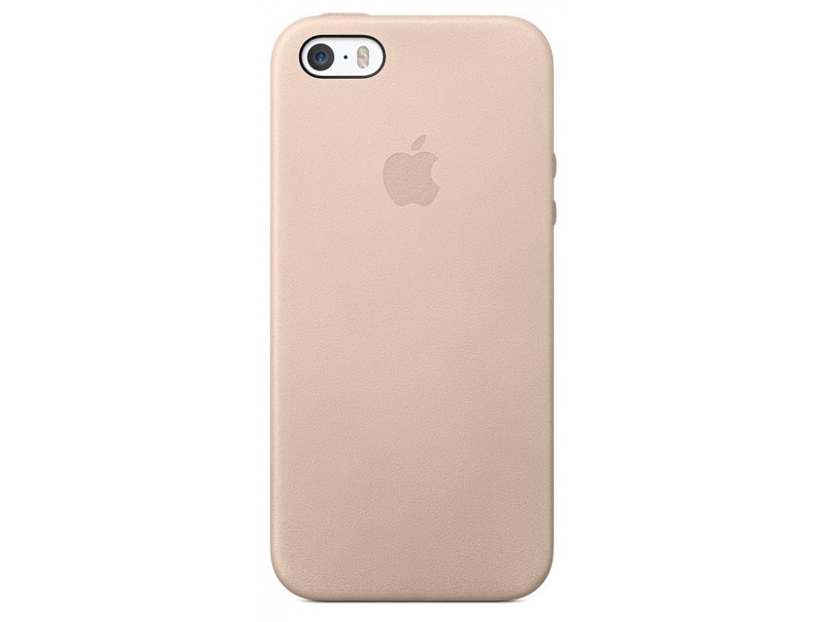 Чехол Leather Case для iPhone 5/5s/SE розовый в Тюмени
