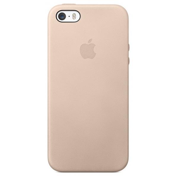 Чехол Leather Case для iPhone 5/5s/SE розовый
