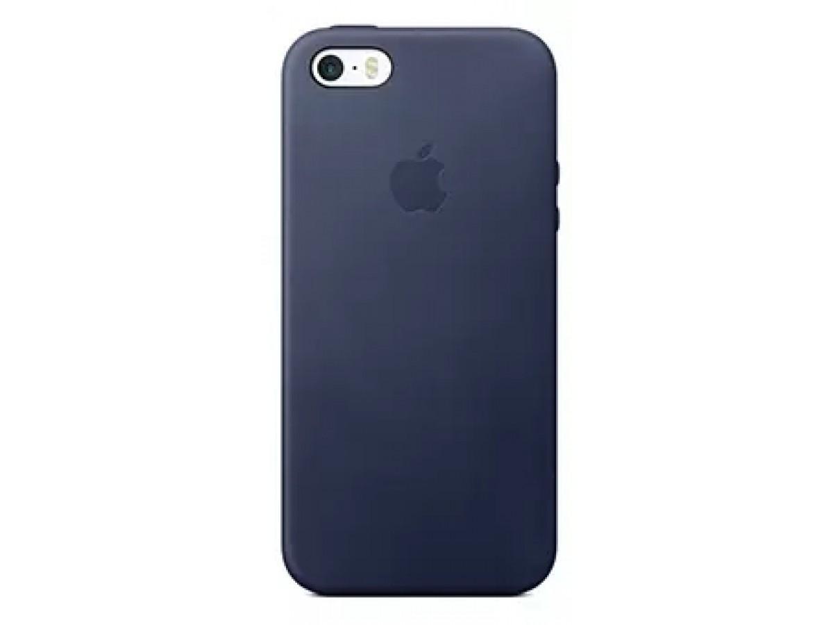 Чехол Leather Case для iPhone 5/5s/SE синий в Тюмени