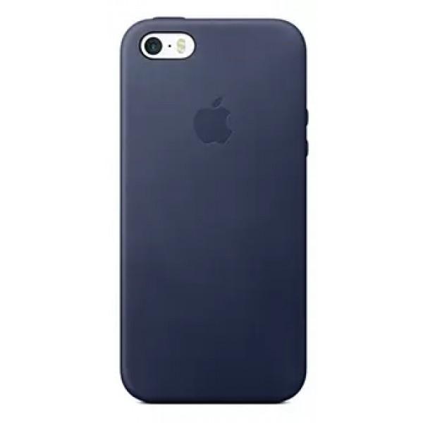 Чехол Leather Case для iPhone 5/5s/SE синий