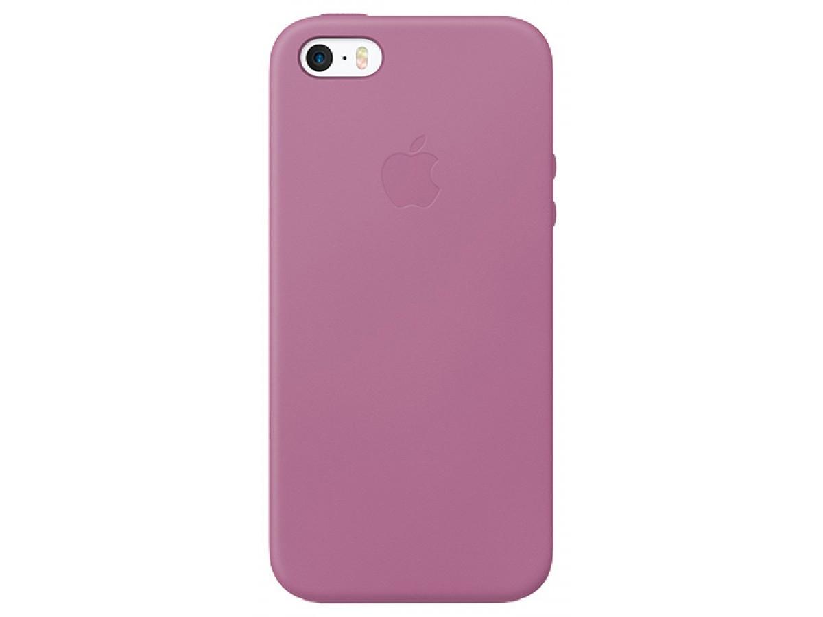 Чехол Leather Case для iPhone 5/5s/SE сиреневый в Тюмени