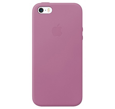 Чехол Leather Case для iPhone 5/5s/SE сиреневый