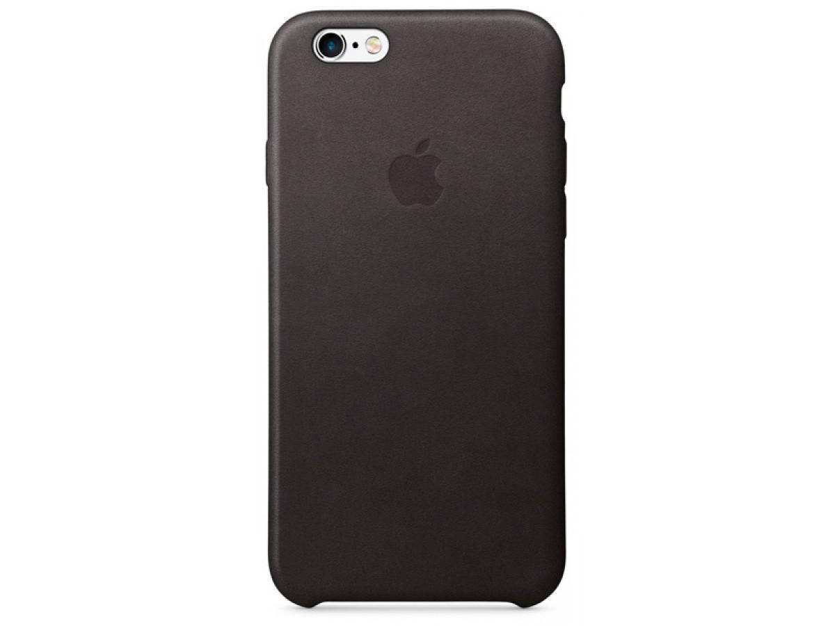Чехол Leather Case для iPhone 6/6S черный в Тюмени