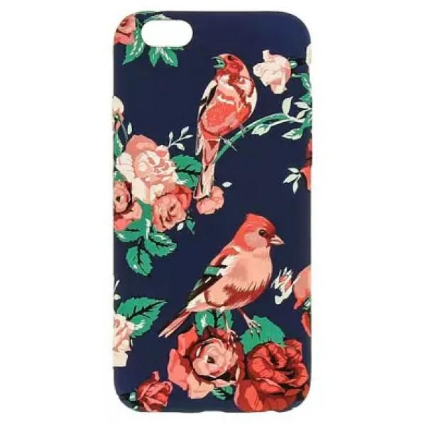 Чехол Luxo цветы и птицы для iPhone 6/6S с принтом силиконовый F6