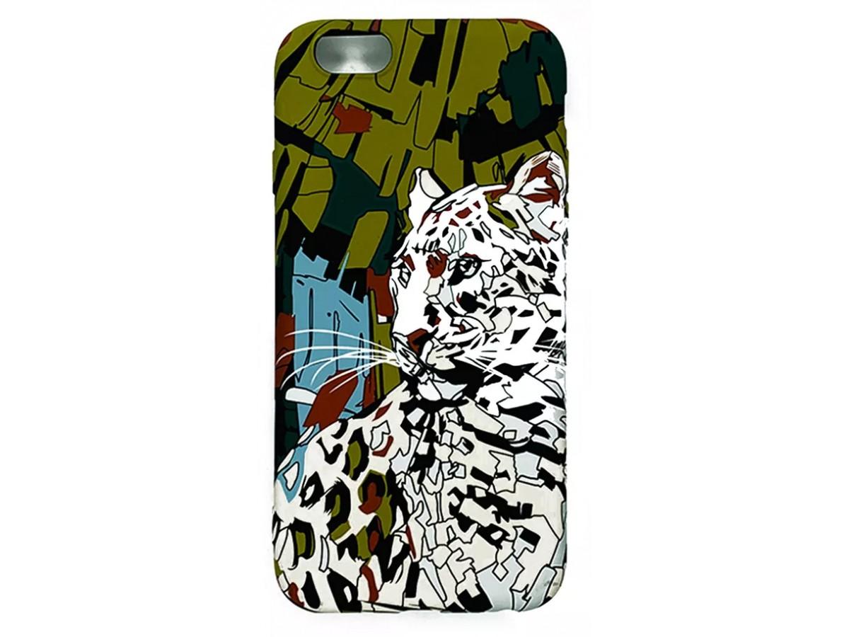 Чехол Luxo леопард для iPhone 6/6S с принтом силиконовый L31 в Тюмени