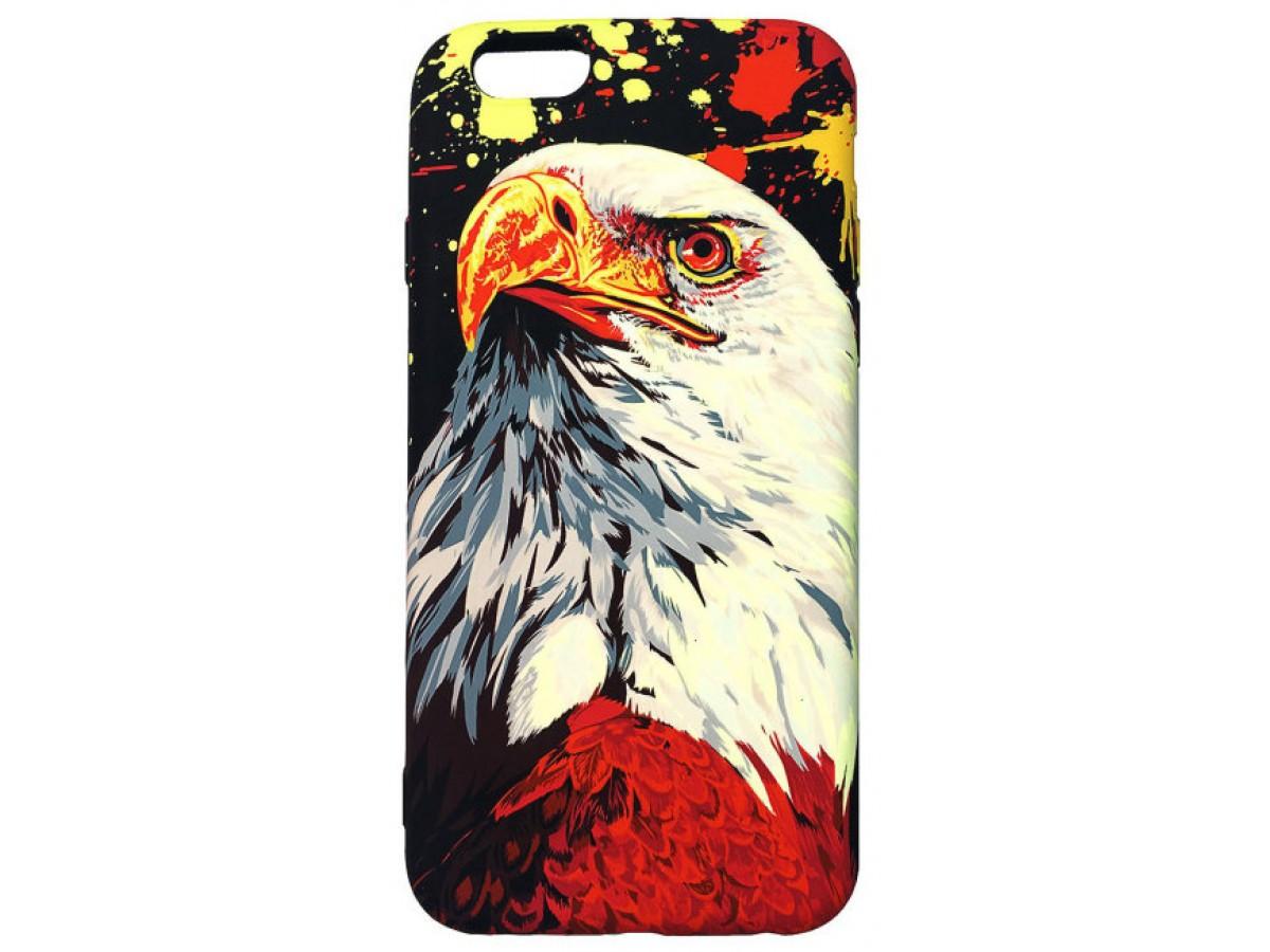 Чехол Luxo орел для iPhone 6/6S с принтом силиконовый D7 в Тюмени