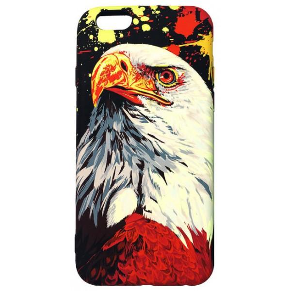 Чехол Luxo орел для iPhone 6/6S с принтом силиконовый D7